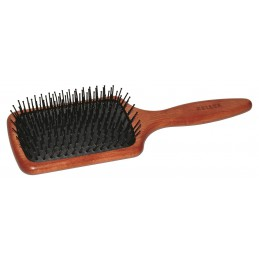 Hair brush with a rubber...