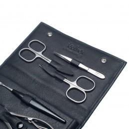 NEVADA XL juodas manikiūro rinkinys vyrams, natūralios  odos dėklas Solingen - 2
