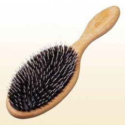 Bamboo brush with boar and...