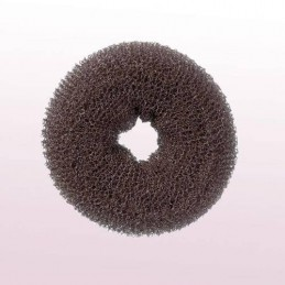 Hair roll, brown, 9cm