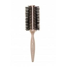 Šepečiai medinėmis rankenomis plaukų sukimui, apimties ir spindesio suteikimui