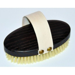 Massage brush with natural...