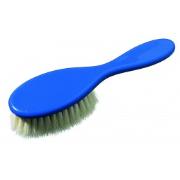 Hair brush with a plastic...