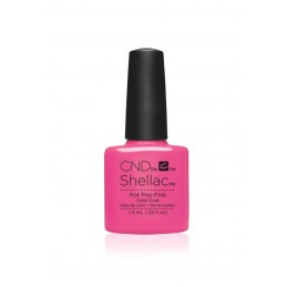Shellac nail polish - HOT POP PINK