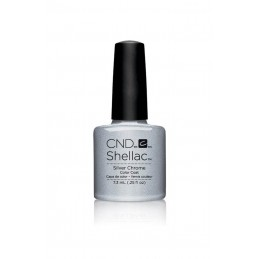 Shellac nail polish - SILVER CHROME